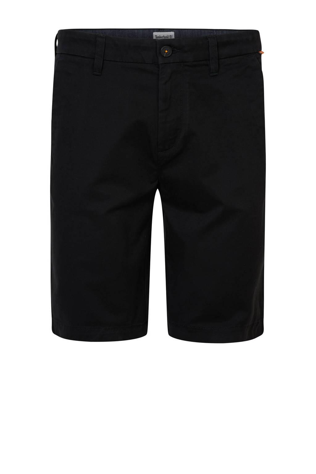 Timberland straight fit bermuda zwart, Zwart