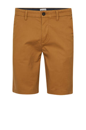 straight fit chino short geel