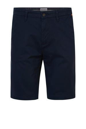 straight fit bermuda blauw