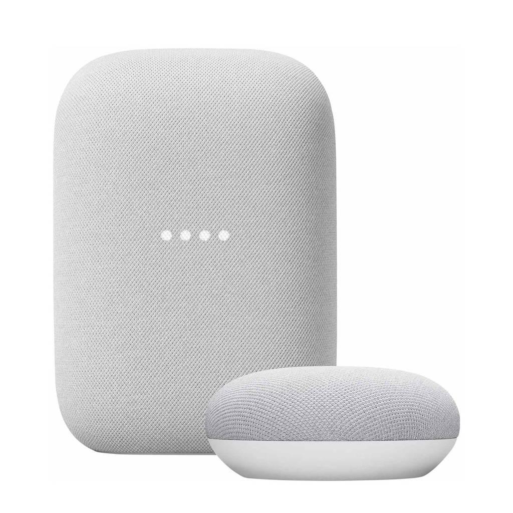 Google Nest Audio + Nest Mini  (wit), Wit