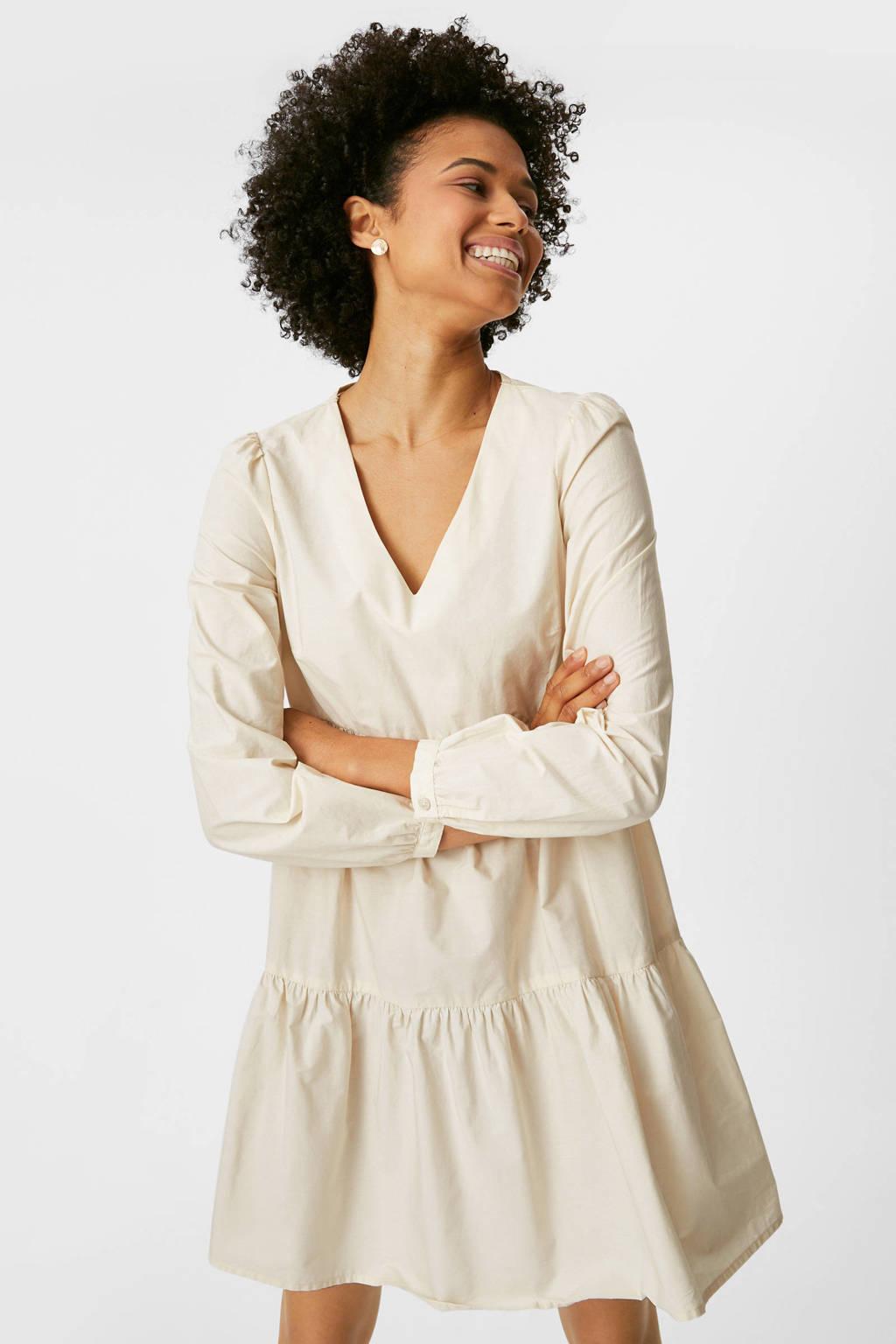 C&A Yessica A-lijn jurk van biologisch katoen ecru, Ecru