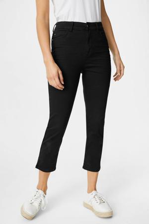 cropped high waist skinny jeans zwart