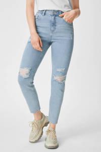 C&A Clockhouse high waist slim fit jeans lichtblauw, Lichtblauw