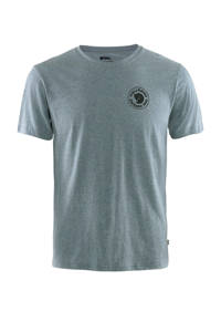 Fjällräven outdoor T-shirt blauw melange, Blauw