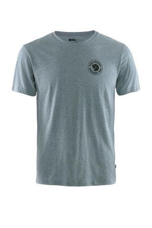outdoor T-shirt blauw melange