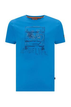 outdoor T-shirt Niels blauw