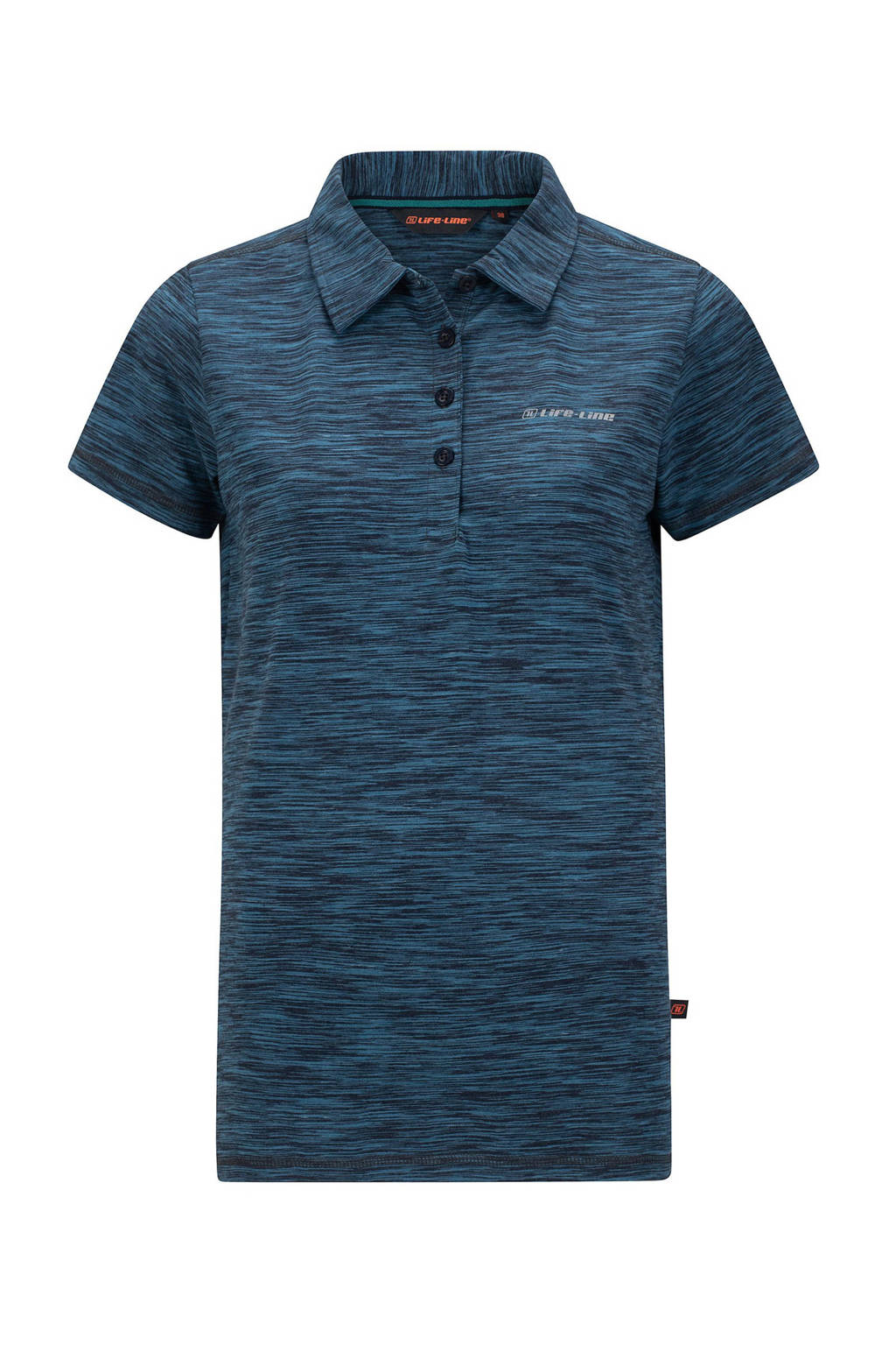 Life-Line outdoor polo Carliste donkerblauw melange, Donkerblauw melange