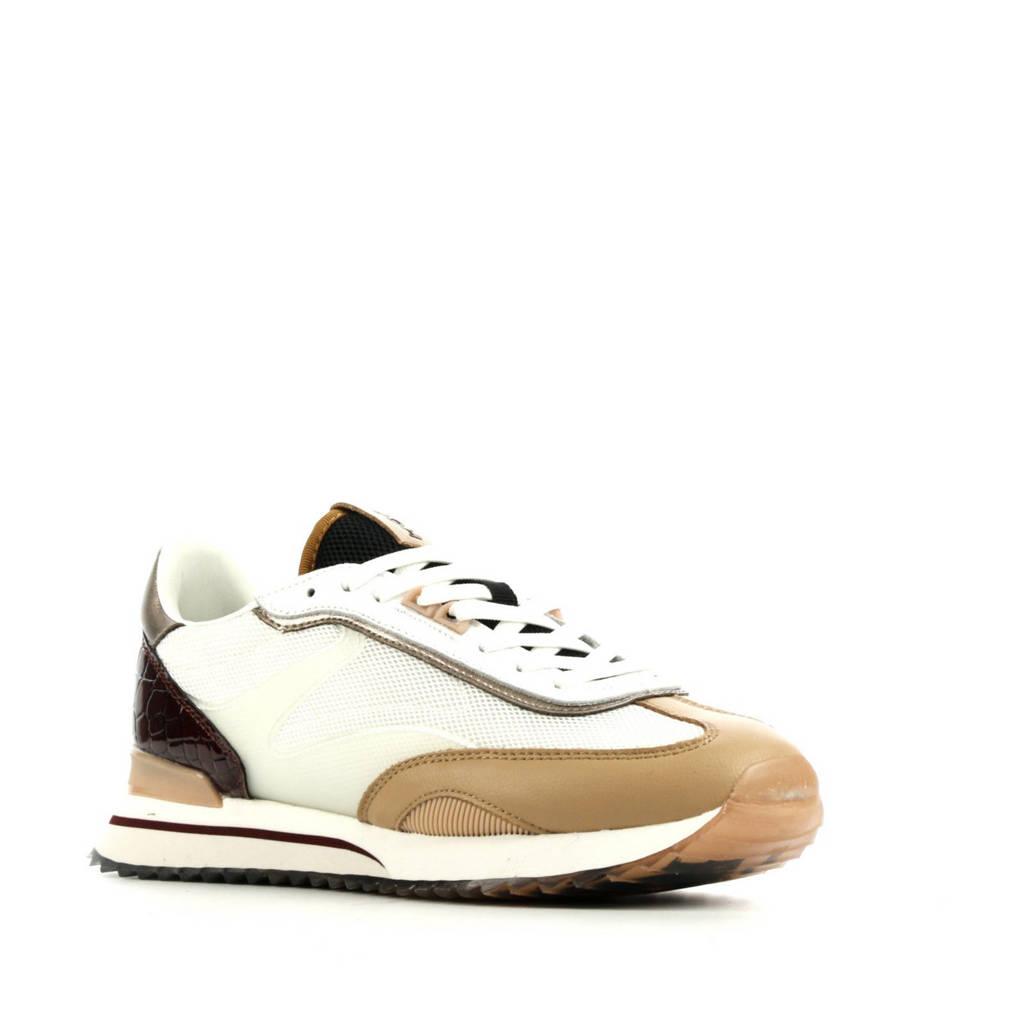 HOFF Louvre  leren sneakers wit/multi, Wit/multi