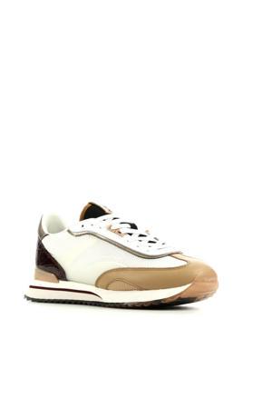 Louvre  leren sneakers wit/multi