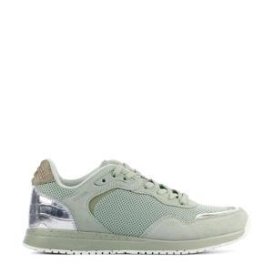 Elvira  suède sneakers groen
