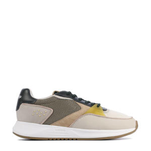 East Village  leren sneakers beige/multi