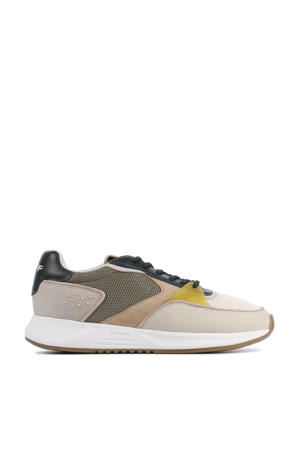 East Village  leren sneakers beige/multi