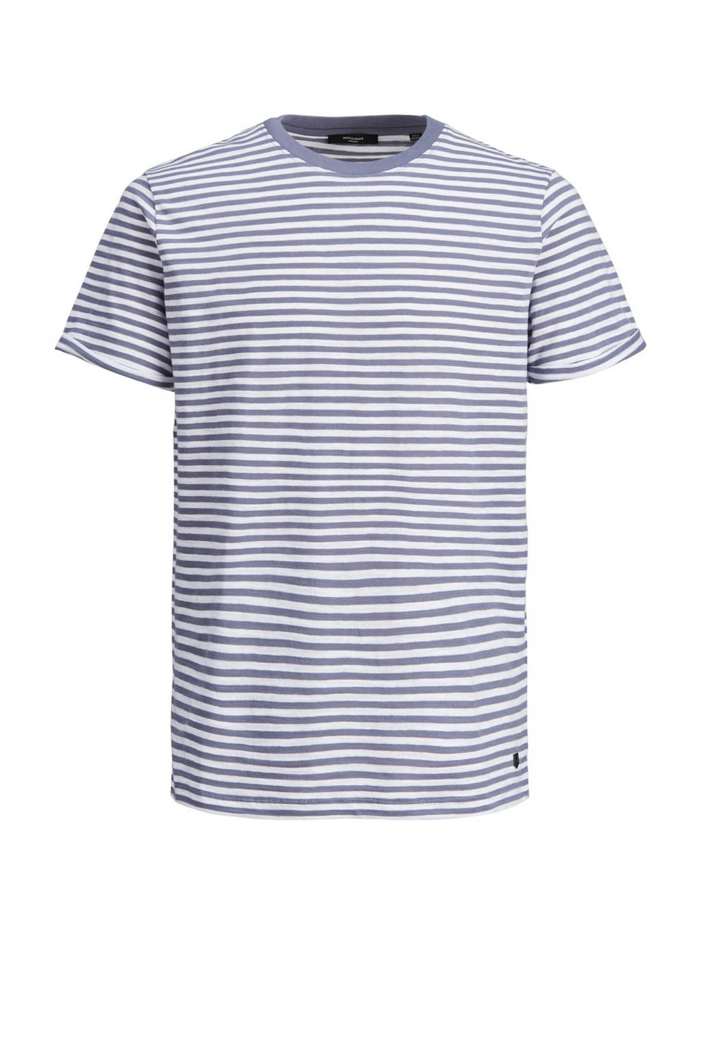 JACK & JONES PREMIUM gestreept T-shirt Blabeach atlantic blue, Atlantic Blue