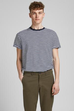 gestreept T-shirt Blabeach donkerblauw/wit