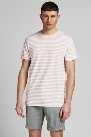 gestreept T-shirt Blabeach peach
