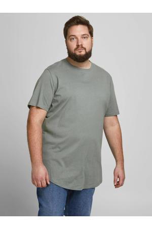 basic T-shirt Plus Size grijs