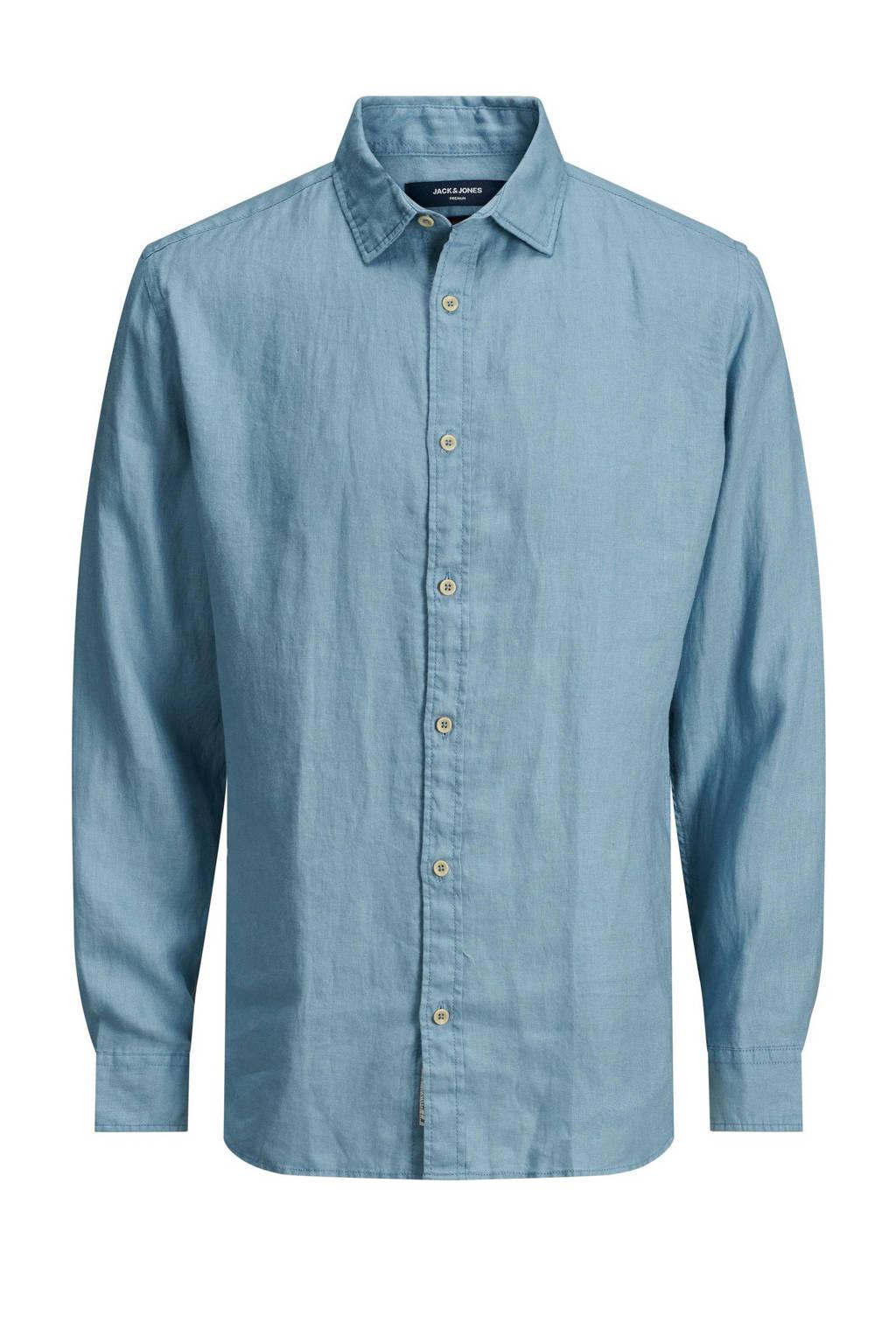 JACK & JONES PLUS SIZE regular fit overhemd Plus Size blauw, Blauw