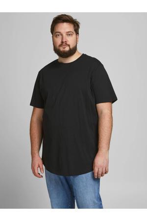 basic T-shirt Plus Size zwart