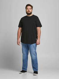 JACK & JONES PLUS SIZE basic T-shirt Plus Size zwart, Zwart