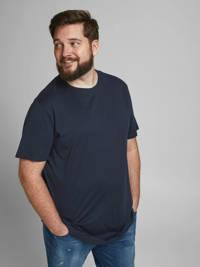 JACK & JONES PLUS SIZE basic T-shirt Plus Size donkerblauw, Donkerblauw