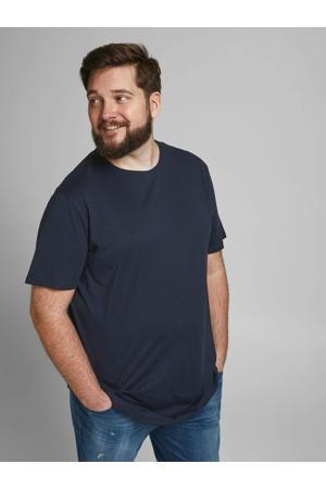 basic T-shirt Plus Size donkerblauw