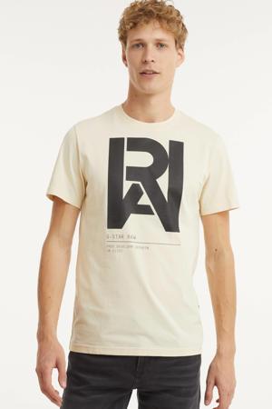 T-shirt van biologisch katoen ecru