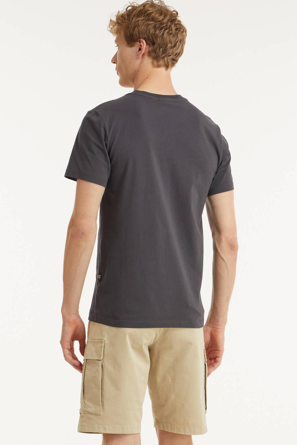 G-Star RAW T-shirt van biologisch katoen antraciet, Antraciet