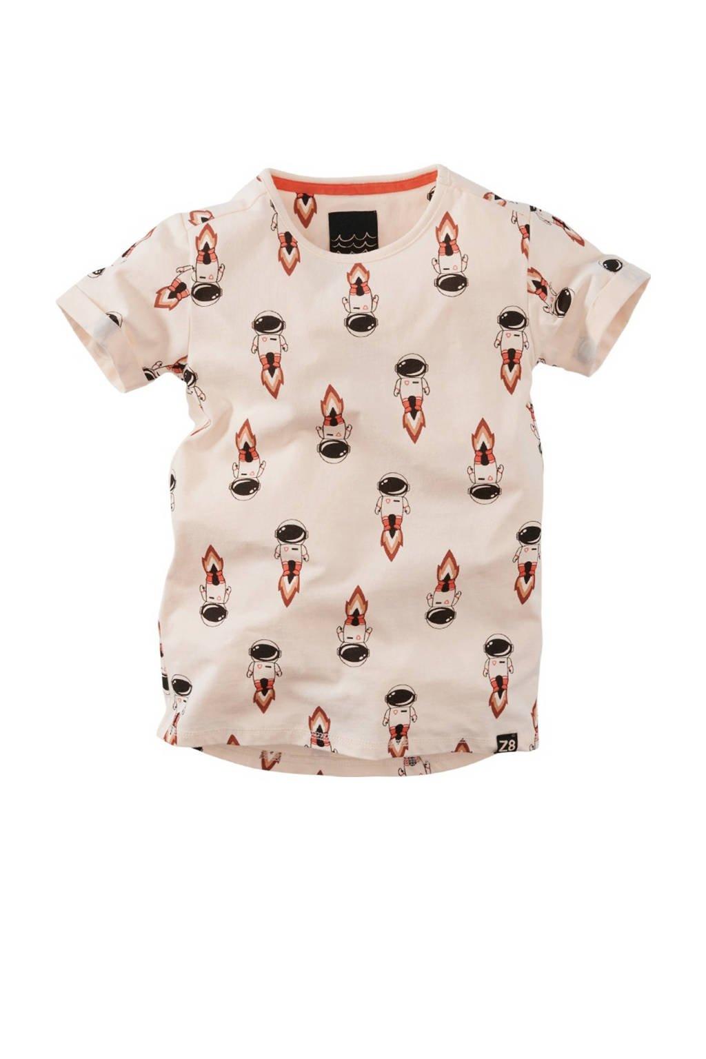 Z8 Limited edition T-shirt Paul ecru/rood/zwart, Ecru/rood/zwart