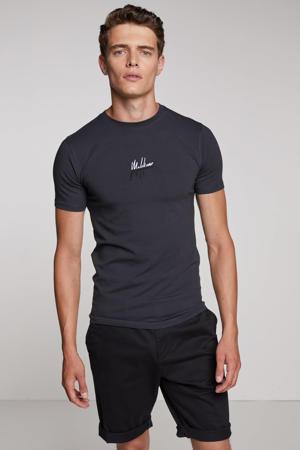 T-shirt met logo antraciet/zwart