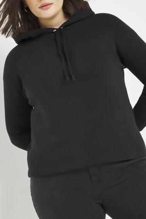 hoodie met plooien zwart