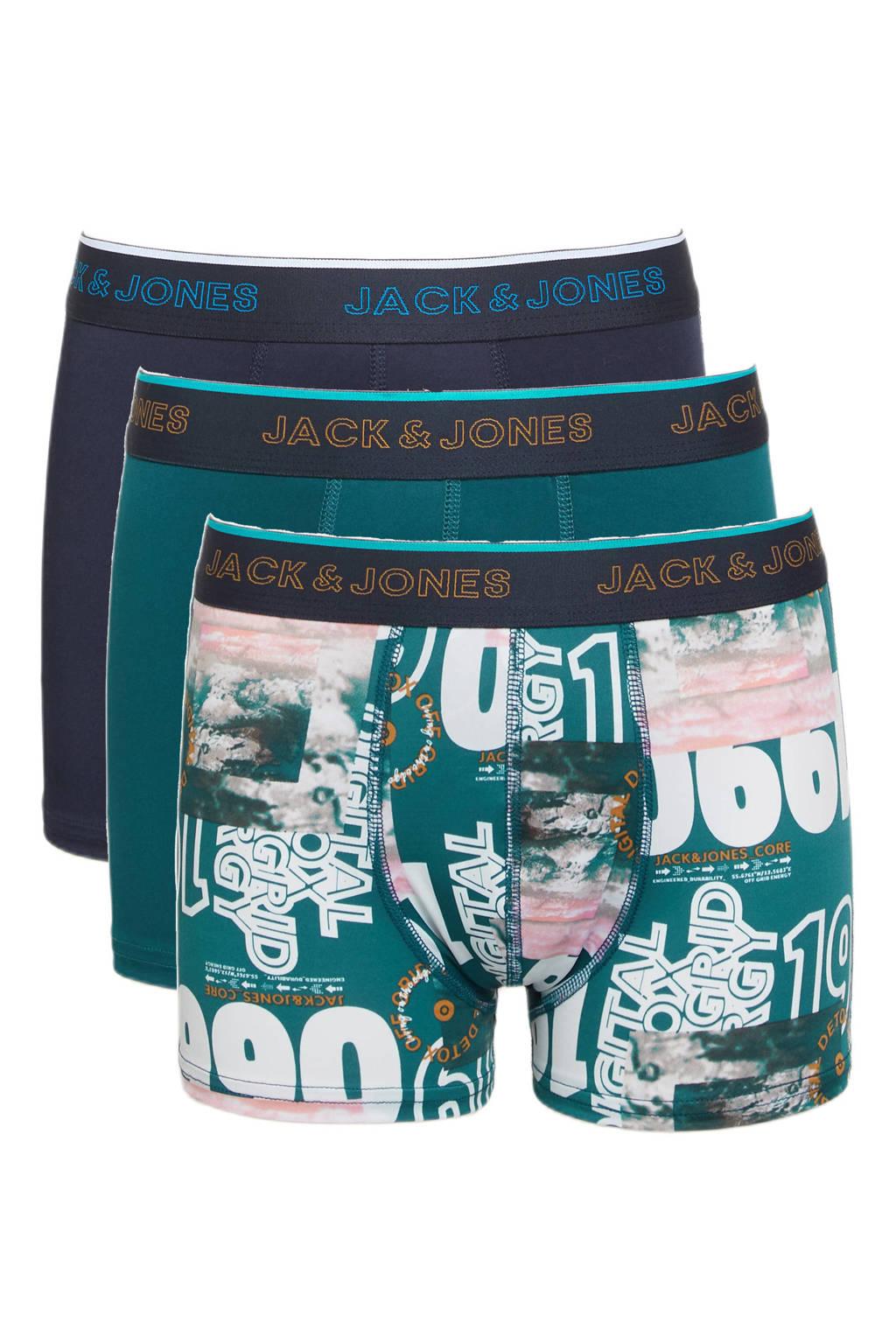 JACK & JONES JUNIOR   boxershort JACCLOUND - set van 3 multi color, Multi color