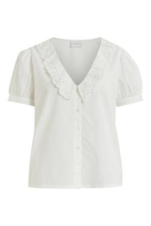 blouse VICILLIE van biologisch katoen wit