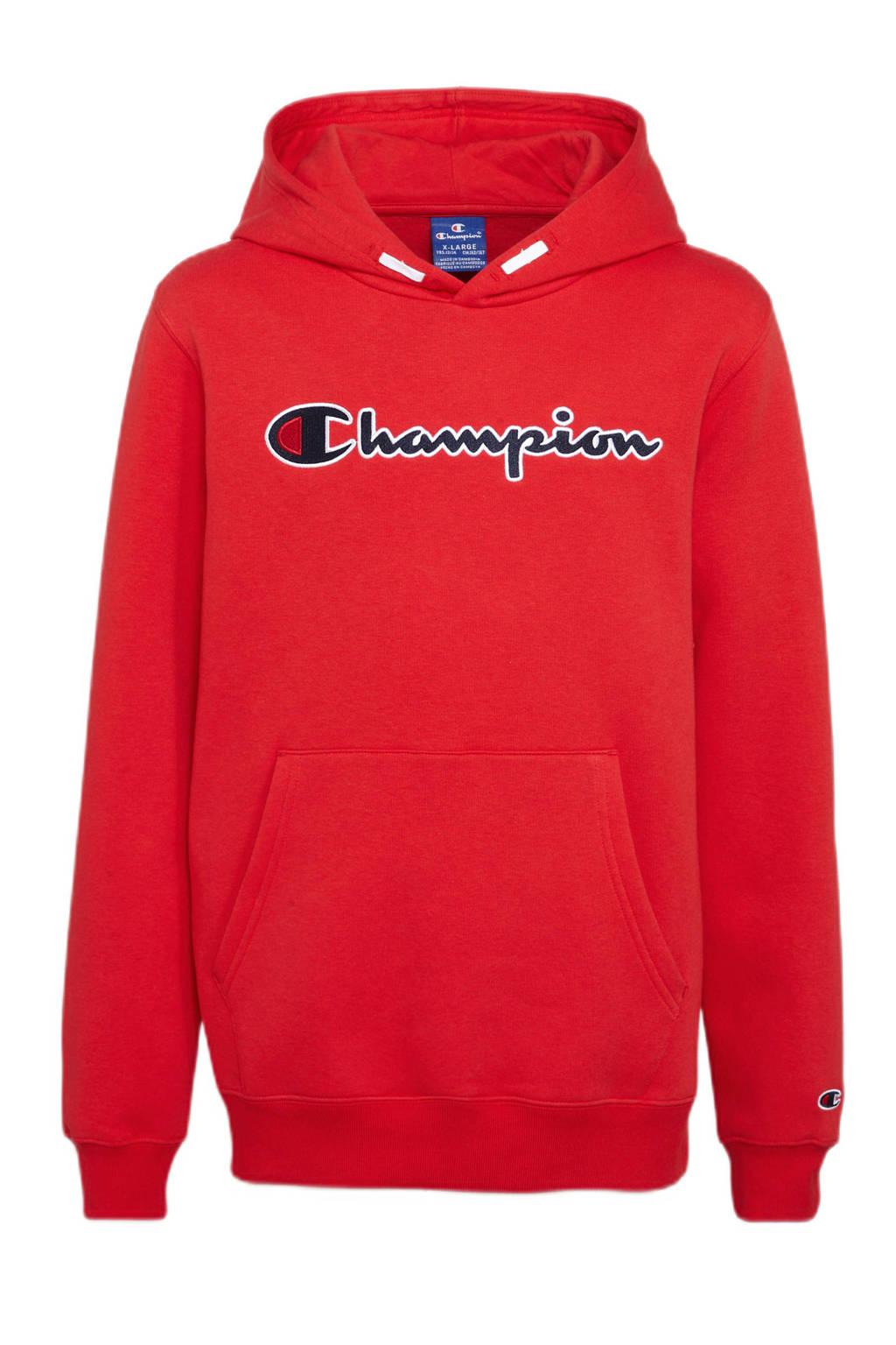 Champion hoodie met logo rood, Rood