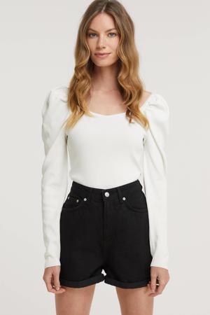high waist mom jeans zwart
