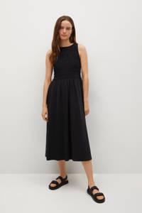Mango A-lijn jurk van biologisch katoen zwart, Zwart