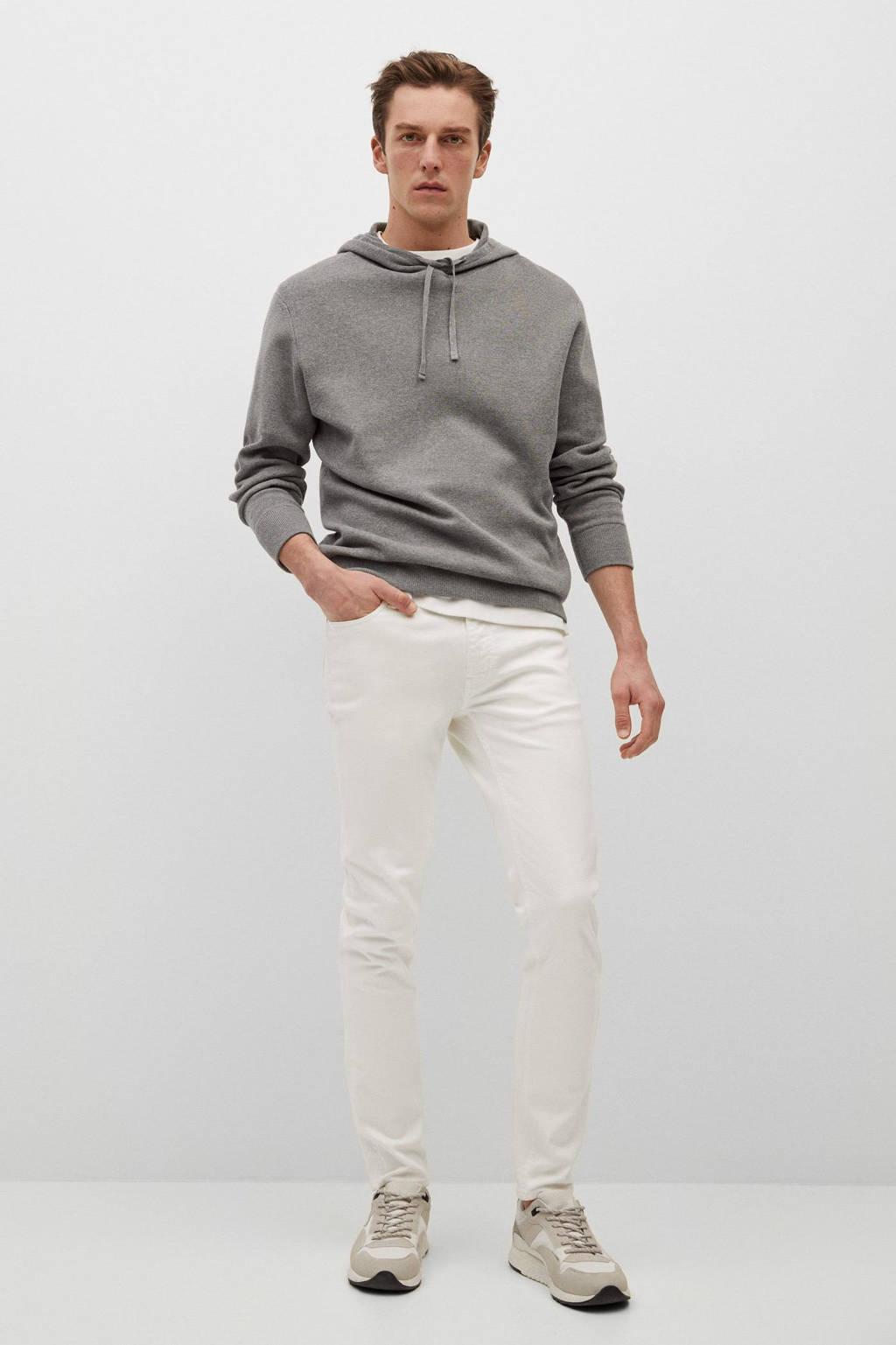 Mango Man skinny broek wit, Wit