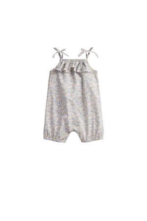baby gebloemd boxpak beige/blauw/grijs