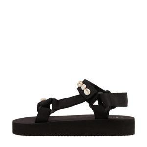 sandalen met schelpen zwart