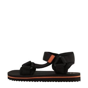 sandalen zwart/oranje