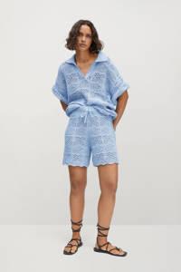 Mango trui met korte mouw lichtblauw, Lichtblauw