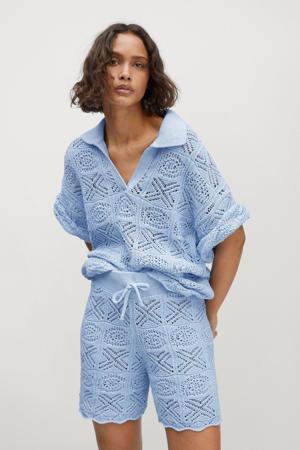 trui met korte mouw lichtblauw