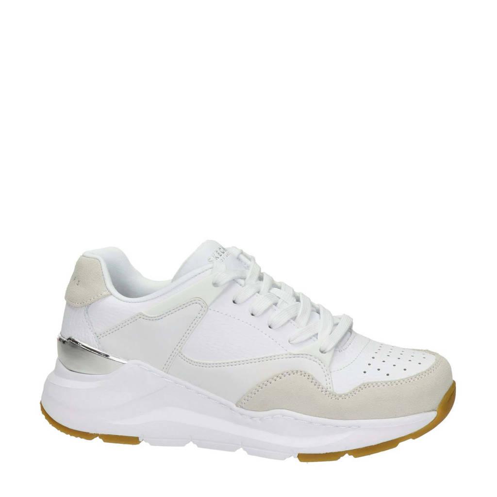 Skechers Street Rovina  leren sneakers wit, Wit