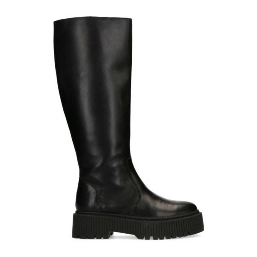 Sacha   hoge leren laarzen zwart, Zwart