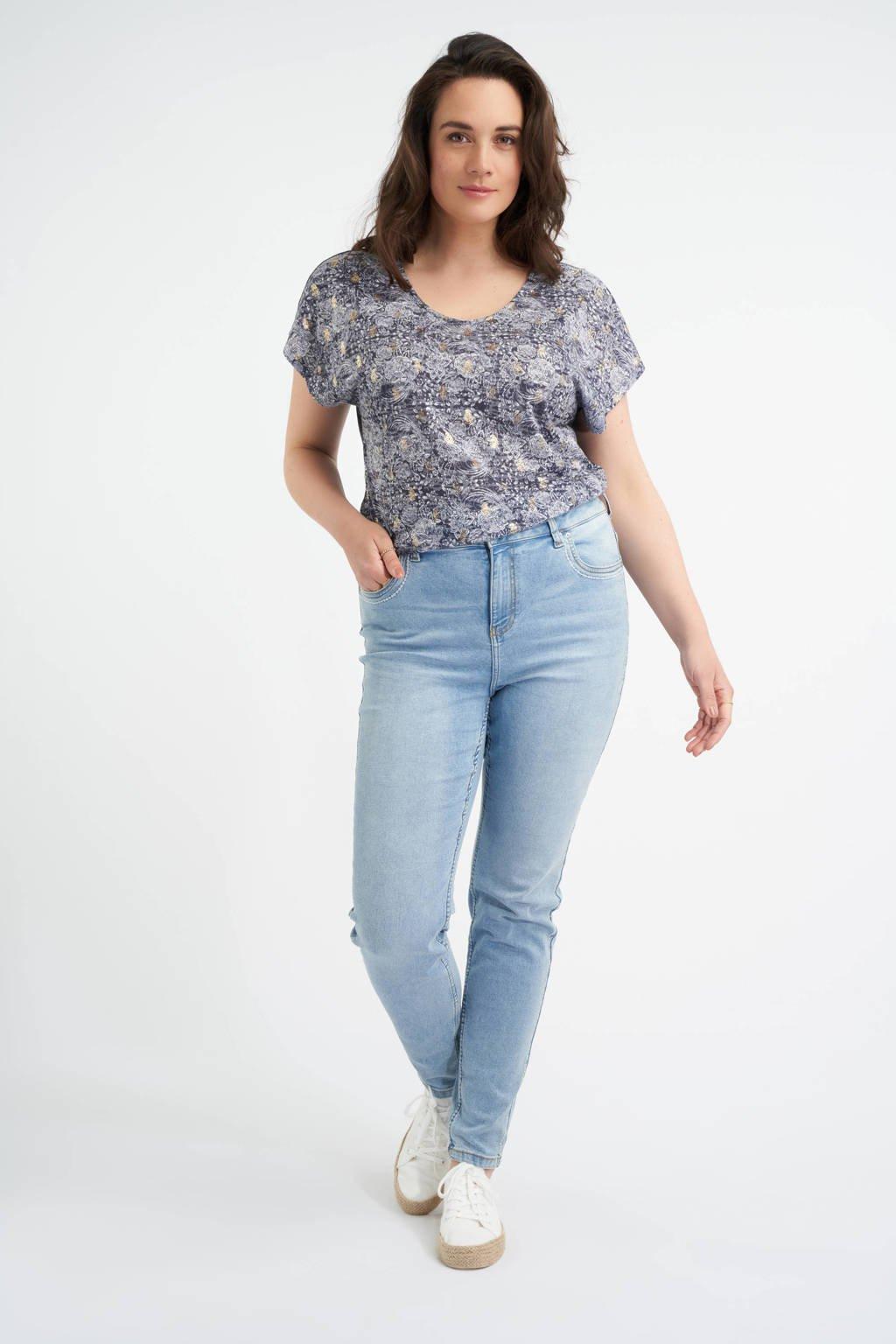 MS Mode slim fit jeans light denim, Light denim