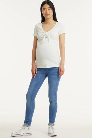 high waist skinny zwangerschapsjeans Paola stonewashed