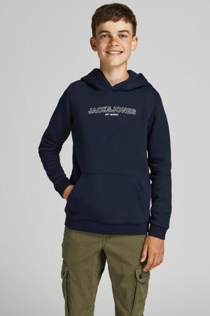 sweater Bank met logo donkerblauw