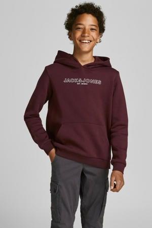 sweater Bank met logo donkerrood