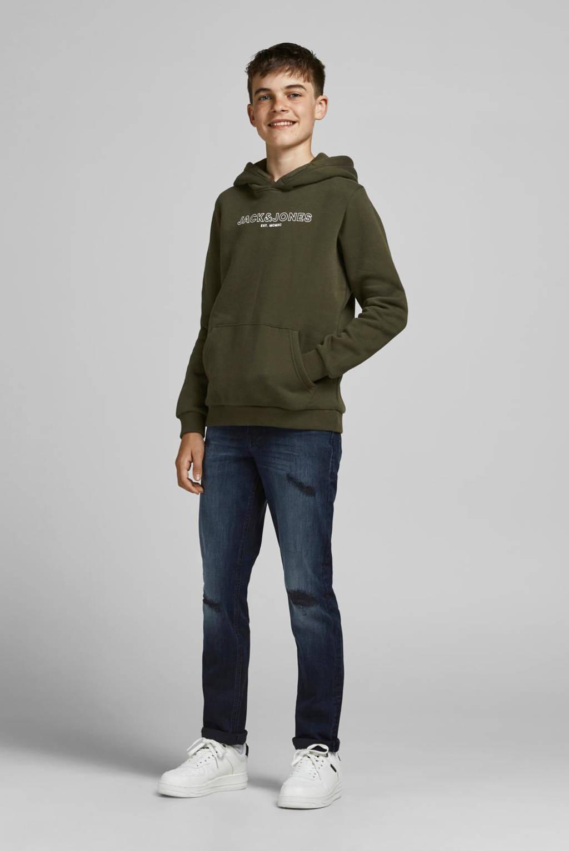 JACK & JONES JUNIOR sweater JJBANK met logo army groen, Army groen