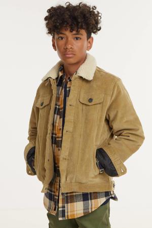 corduroy jack winter JJIALVIN beige/camel