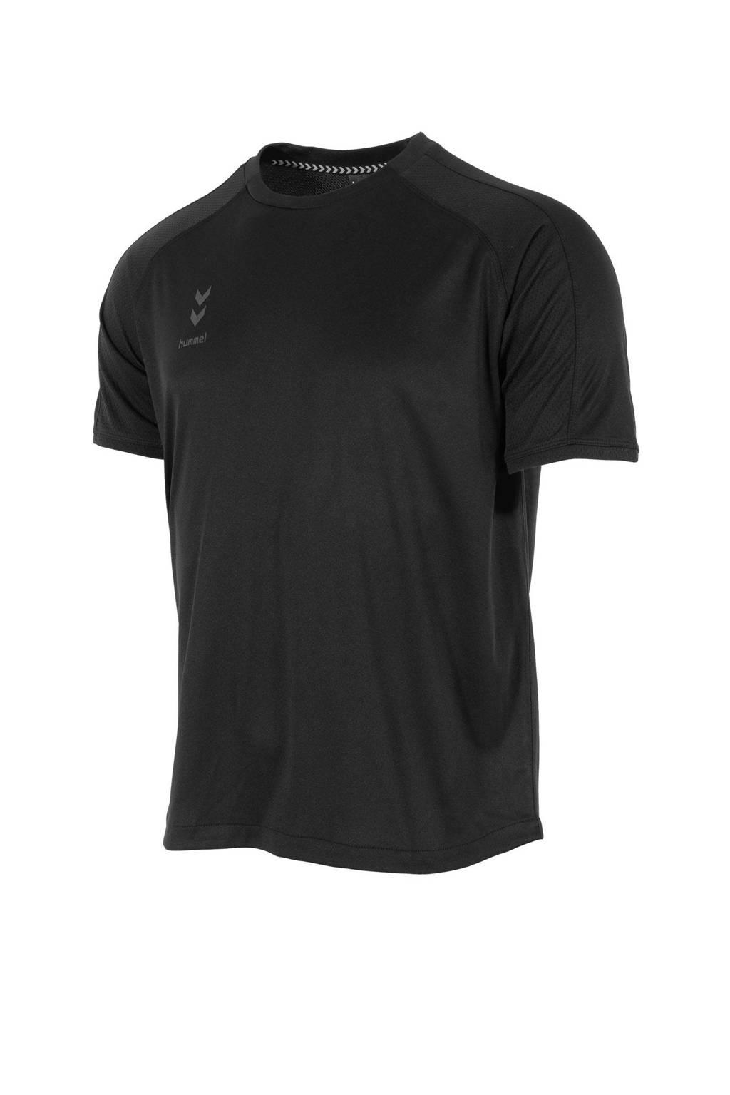 hummel Junior  sport T-shirt Ground Pro zwart, Zwart